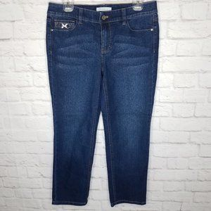 White House Black Market Straight Crop Blanc Jeans